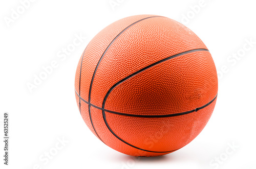 Basketball isolated white background