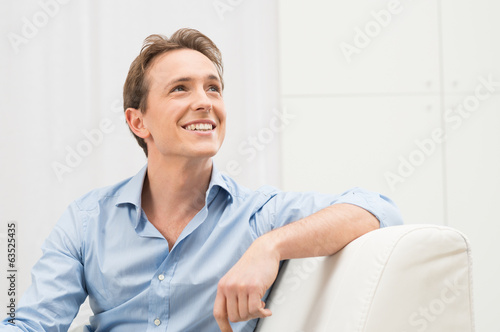 Young Man Daydreaming