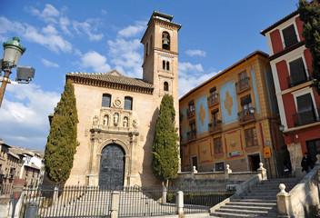 Iglesia de Santa Ana, Granada, Andalucía, España