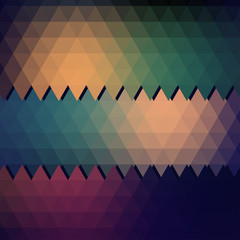 Vector grunge retro triangle seamless background pattern