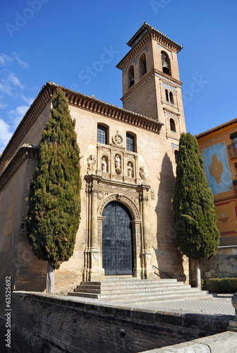 Church of Santa Ana and San Gil, Granada, Andalucia, Spain
