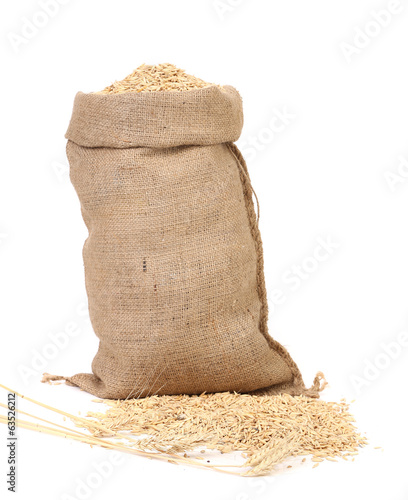 Sack with wheat.