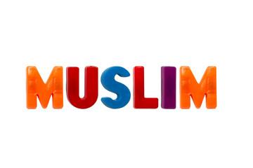 Letter magnets MUSLIM