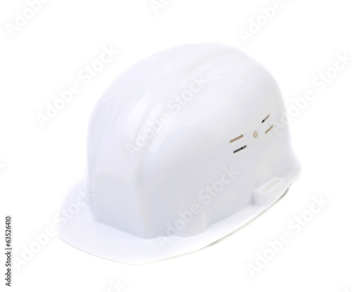 White safety helmet.