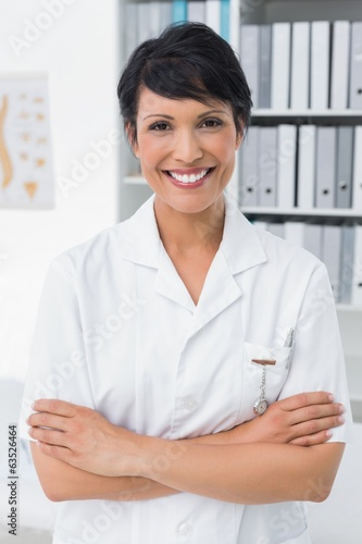Portrait of a smiling confident female doctor