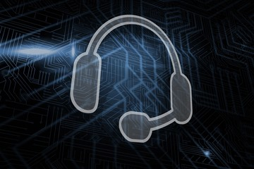 Composite image of headset