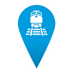 Icono localizacion simbolo ferrocarril