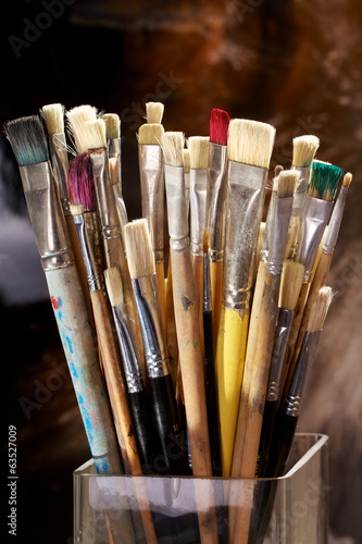 Artist Brushes in a Vase