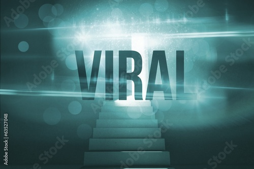 Viral against steps leading to door showing light