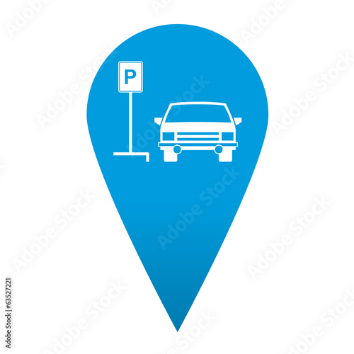 Icono localizacion simbolo parking para coches