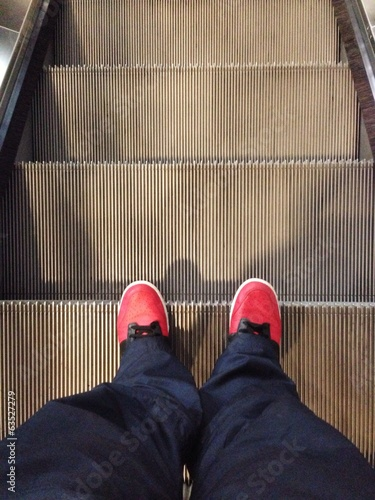 walk on escalator