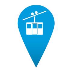 Icono localizacion simbolo teleferico