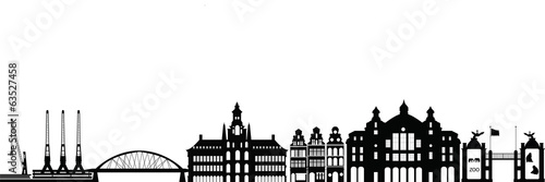 belgium city antwerp skyline