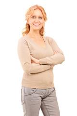 Mature woman posing