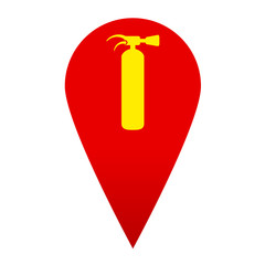 Icono localizacion simbolo extintor