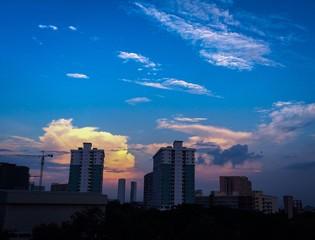 Evening skyline
