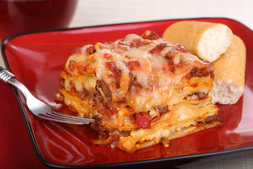 Plate of Lasagna