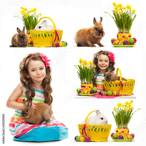 Collage with  easter photos