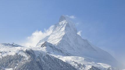 Zermatt, Bergdorf, Skigebiet, Schweizer Alpen, Winter