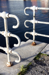 railings near water