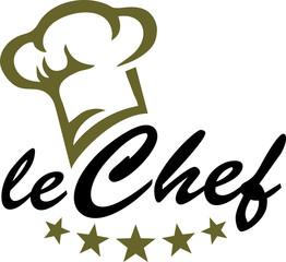 Chefkoch - Koch Mütze - 5 Sterne - Vektor