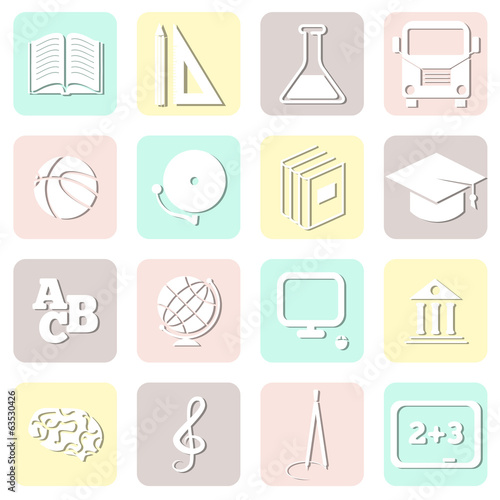 education seamless, school pattern, vector