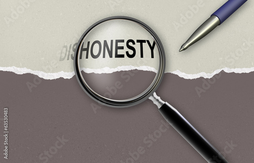 changing the word dishonesty for honesty