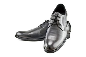 a pair of black men's classic shoes