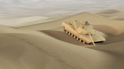 Panzerwrack in der Wüste