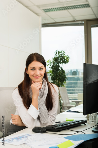 Confident Businesswoman In Office