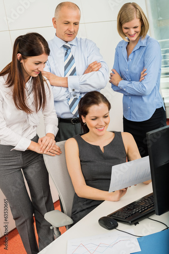 Business Colleagues Discussing In Office