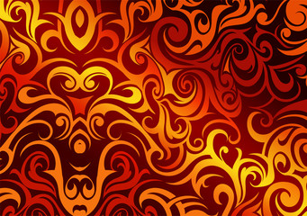 Abstract background with fire flames