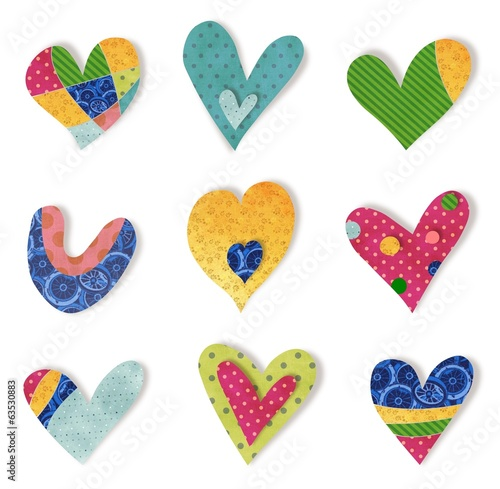 Decorative elements. Hearts