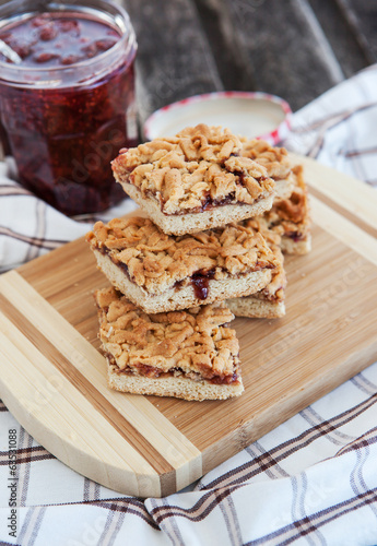 Jam filled bar cookies