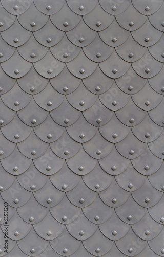 metal armor fish scale with rivets