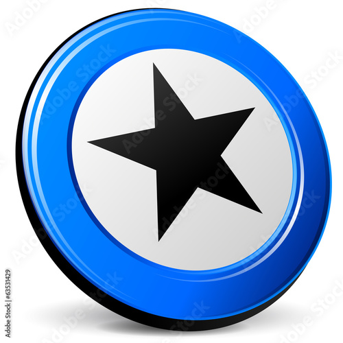 Vector 3d star icon