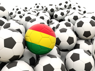 Football with flag of bolivia