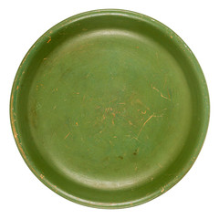 Old green plate