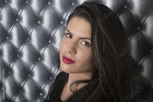 A woman with a gorgeous face (portrait, latina)