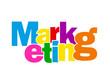 """Mosaïque de Lettres """"MARKETING"""" (publicité communication marché)"""