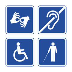 Disabled signs