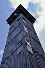 Observation tower Aschberg in Krusne hory