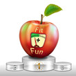 canvas print picture - Apfel auf Siegerpodest, Fit for Fun