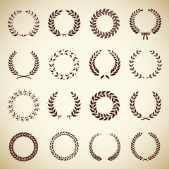 Collection of vintage laurel wreaths
