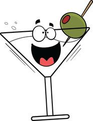 Cartoon Happy Martini