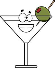 Cartoon Grinning Martini