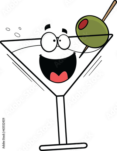 Cartoon Happy Martini
