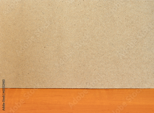 Fiberboard texture pattern on wooden surface