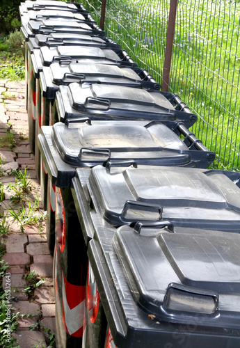 trash bins for separate waste collection of municipal solid wast