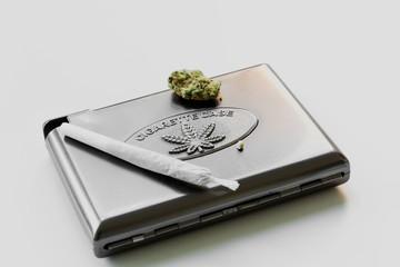 Cannabis cigarette case